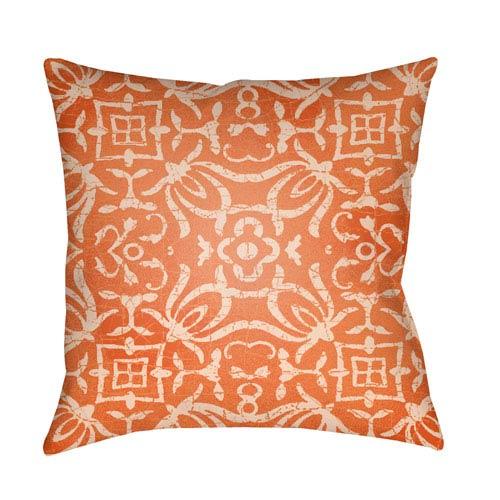 Surya Yindi Bright Orange and Peach 20 x 20-Inch Pillow