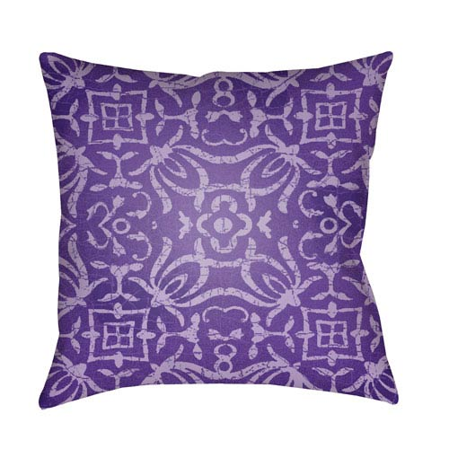 Yindi Bright Purple and Violet 18 x 18-Inch Pillow
