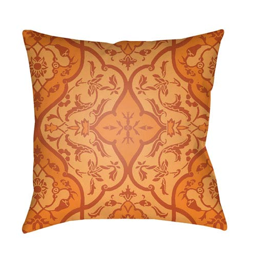 Surya Yindi Bright Orange and Burnt Orange 18 x 18-Inch Pillow