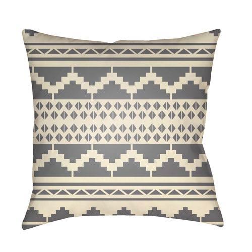 Surya Yindi Medium Gray and Cream 18 x 18-Inch Pillow