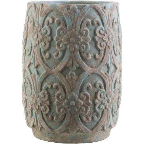 Zephra Teal and Camel Pot