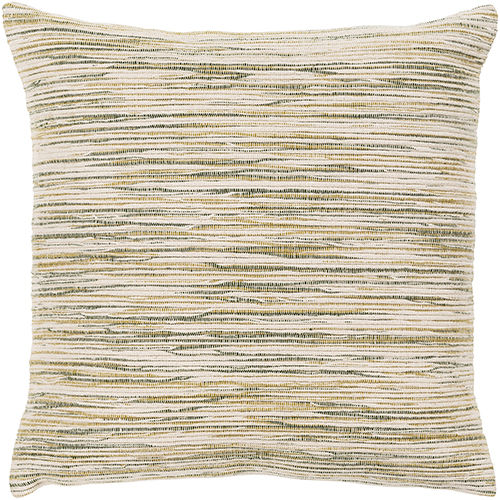 Zuma Beige and Olive 18 In. x 18 In. Pillow with Down Insert