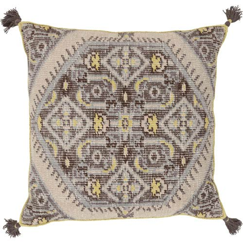 Surya Zahra Green and Black 30-Inch Pillow Cover