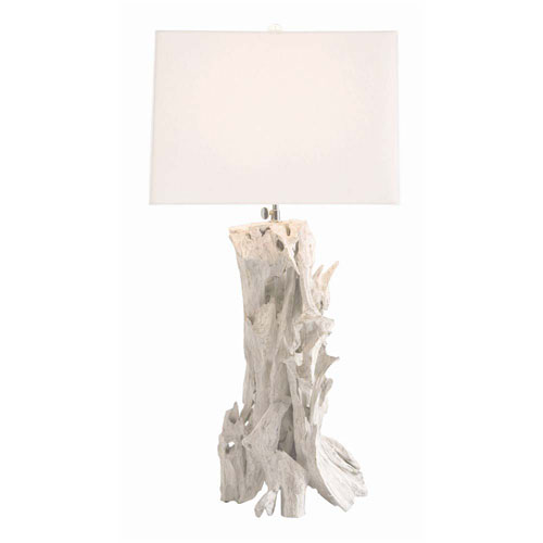 Arteriors Home Bodega Distressed Whitewash 35-Inch One-Light Table Lamp