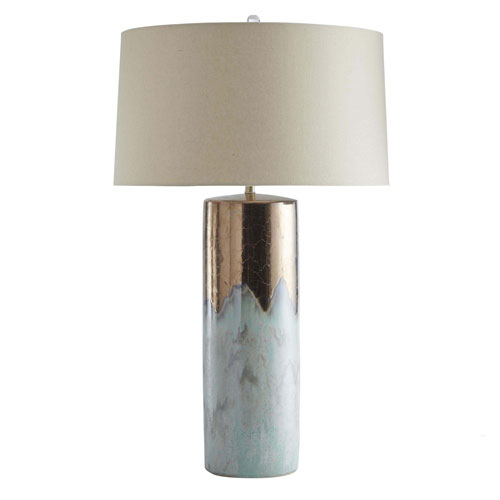Joel Metallic Bronze and Mint 34-Inch One-Light Table Lamp