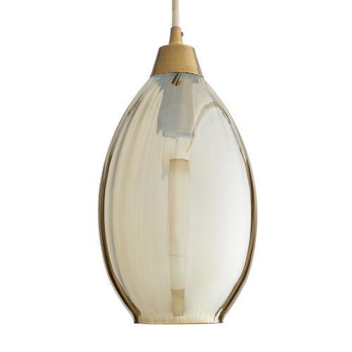 Amber Smoke Luster One-Light Mini Pendant