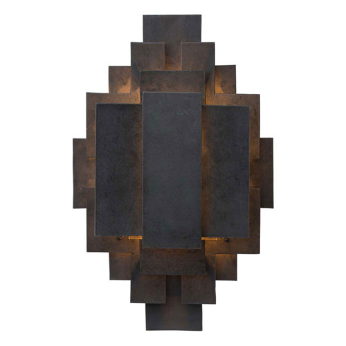 Arteriors Home Trinidad Blackened Iron 22-Inch Two-Light Wall Sconce