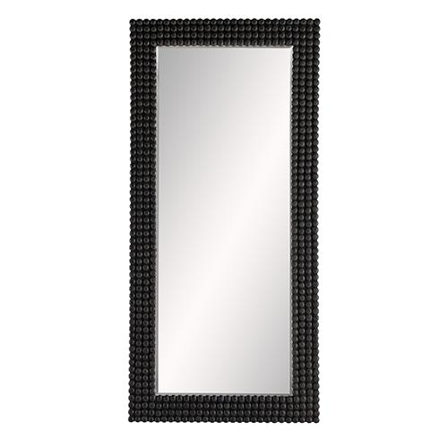 Paxton Black Stained Floor Mirror