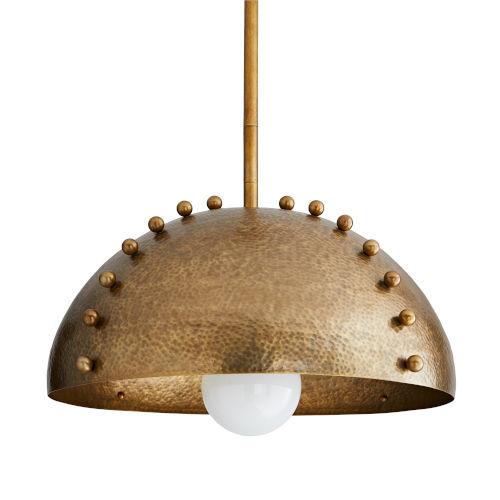 Tidwell Antique Brass One-Light Pendant