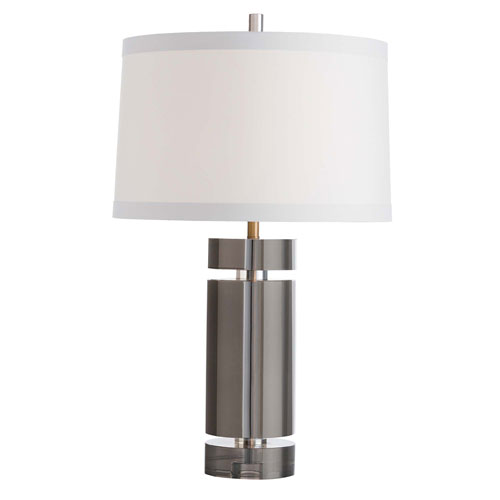 Gerlich Smoke 27-Inch One-Light Table Lamp