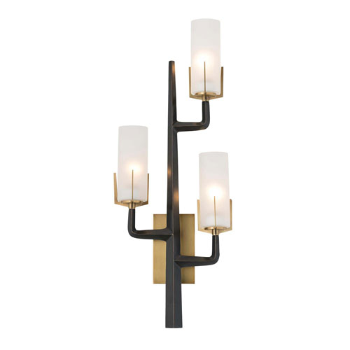 Arteriors Home Griffin Antique Brass 36-Inch Three-Light Wall Sconce