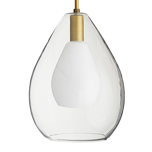 Nala Clear 15-Inch One-Light Pendant