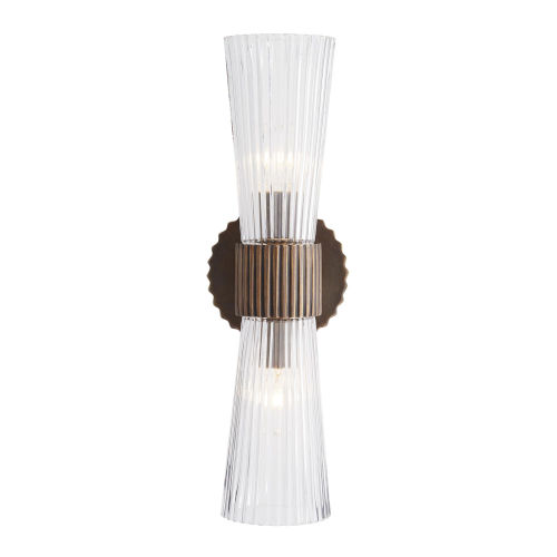 Whittier Bronze Two-Light Wall Sconce
