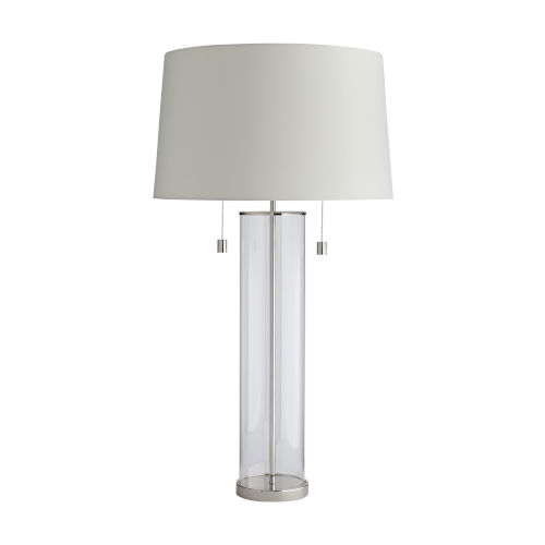 Savannah Polished Nickel Two-Light Table Lamp