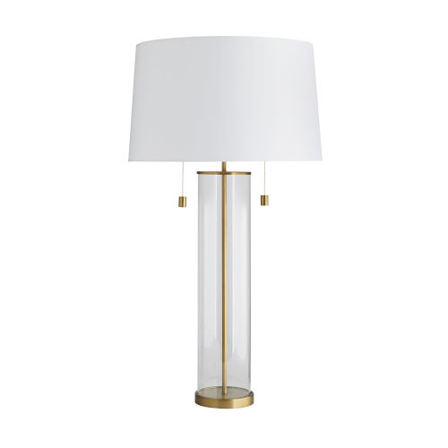 Savannah Antique Brass Two-Light Table Lamp