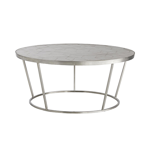 Rainey Fossil Gray Accent Table