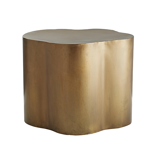 Lowry Antique Brass Accent Table
