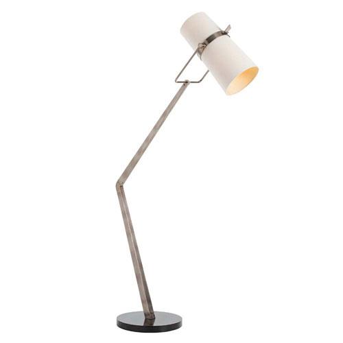 Arteriors Home Juniper Vintage Silver 35-Inch Two-Light Floor Lamp