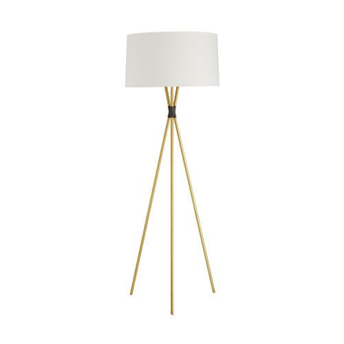 Quade Antique Brass Two-Light Floor Lamp
