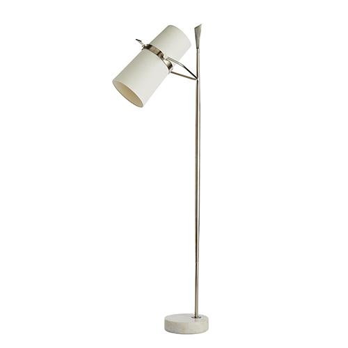 Yasmin Silver Two-Light Floor Lamp
