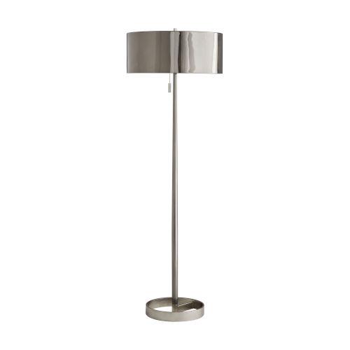 Violetta Dark Vintage Silver Two-Light Floor Lamp