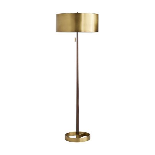 Violetta Antique Brass Two-Light Floor Lamp