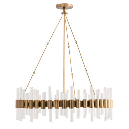 Arteriors Home Haskell Antique Brass 71-Inch Eight-Light Chandelier