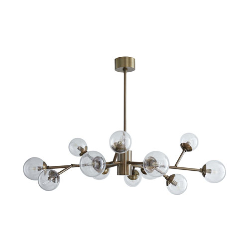 Arteriors Home Dallas Vintage Brass 35-Inch 12-Light Mini Chandelier