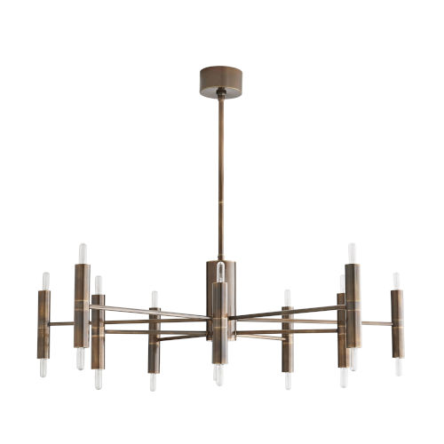Bozeman Heritage Brass 20-Light Chandelier