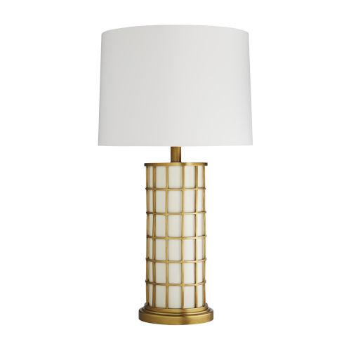 Frank Ponterio Antique Brass One-Light Curtis Lamp