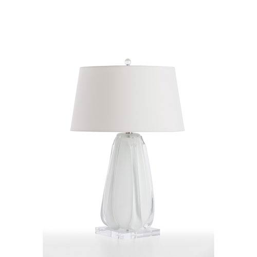 Cleo White Cased 17-Inch One-Light Table Lamp