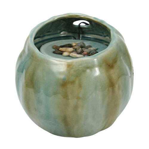 Foreside Home and Garden Blue Desktop Fountain