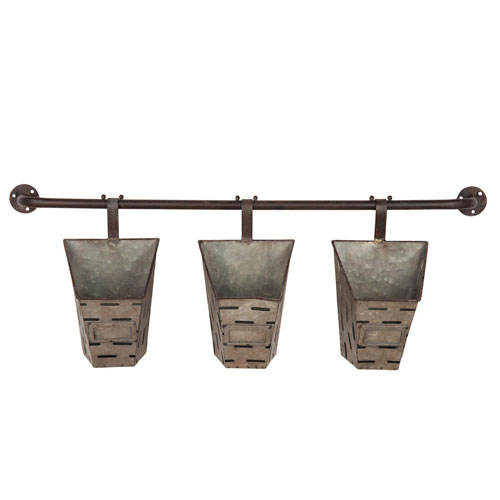 Foreside Home and Garden Olive Basket Trio