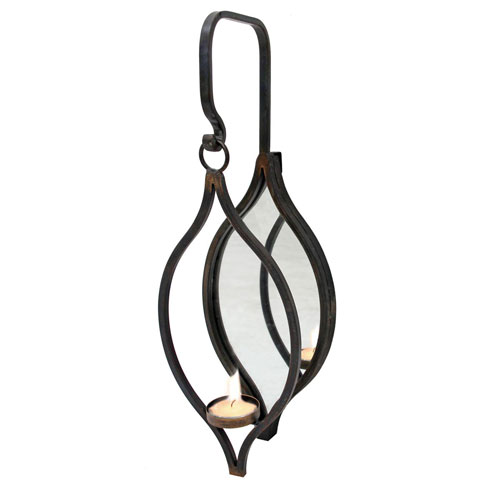 Tea Light Mirror Hanging Holder