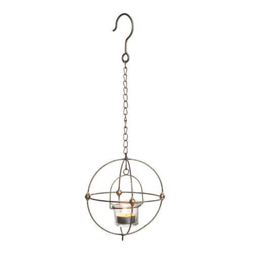 Foreside Home and Garden Single Votive Hanging Orb Holder