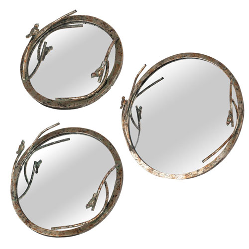 Songbird Mirror Trays, Set of Three