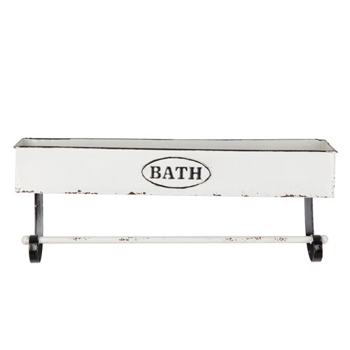 Enamel Towel Bar