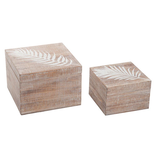 Foreside Home and Garden Fern Boxes, Set of Two