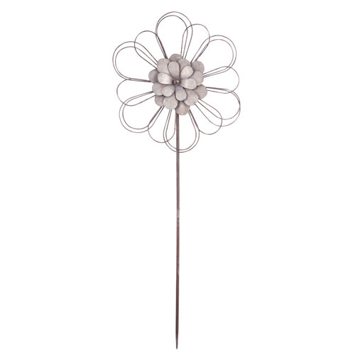 Foreside Home and Garden Ashville Flower Garden Stake Large