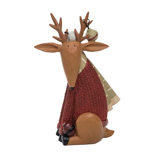 Foreside Home and Garden Williraye Studios Adorned Sitting Reindeer