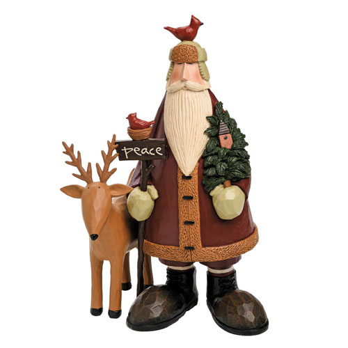 Williraye Studios Woodland Peace Santa