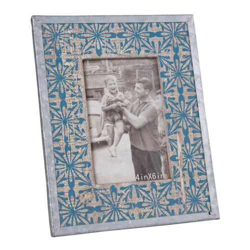 Tile Printed 4 x 6 In. Rounded Frame