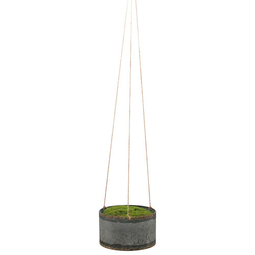 Foreside Home and Garden Small Drummond Hanging Planter
