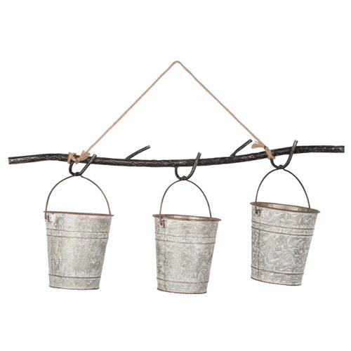Delany Hanging Three Bucket Planter