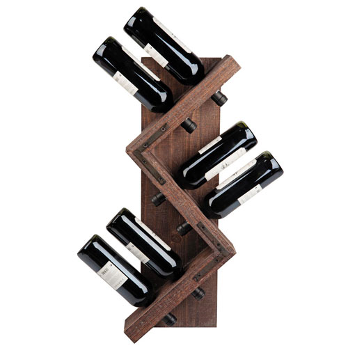 Six Bottle Zig Zag Wine Holder
