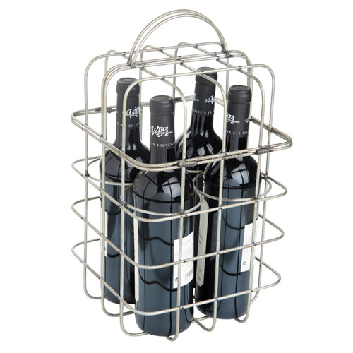 Four Bottle Wire Wine Holder