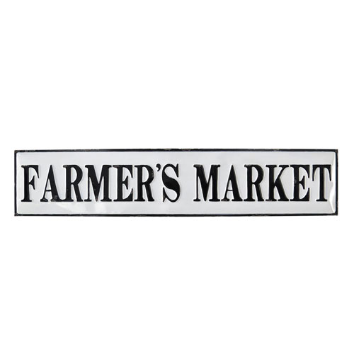 Foreside Home and Garden Farmers Market Wall Plaque