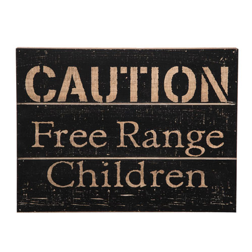 Foreside Home and Garden Free Range Children Wall Art
