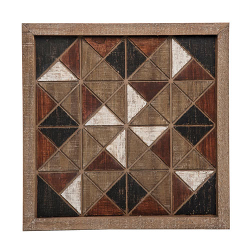 Foreside Home And Garden Quilt Block Wall Art Fwad04185 | Bellacor