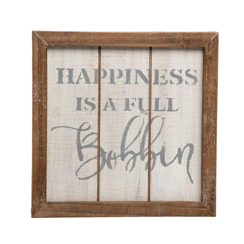Foreside Home and Garden Full Bobbin Sewing Wall Art